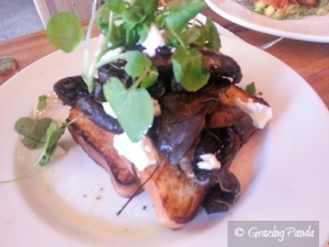 Roasted Field Mushrooms, Toasted House Made Brioche, Meredith Feta & Watercress