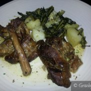 Lamb with Spinach and Potatoes