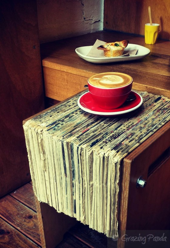 Awesome stool made of recycled papers