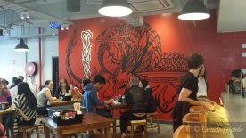 The Red Dragon Mural Wall
