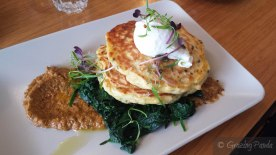 Corn Fritters with Spinach and Dukkah