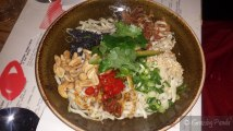 Spicy Dandan Noodles, Sesame, Szechuan, Peanuts and Pickled Chilli