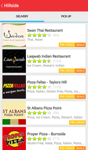 2. EatNow Search Results