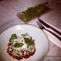 Spinach & Ricotta Gnudi, Tomato Sugo, Ricotta Salata